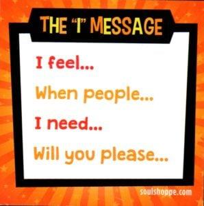 I feel message