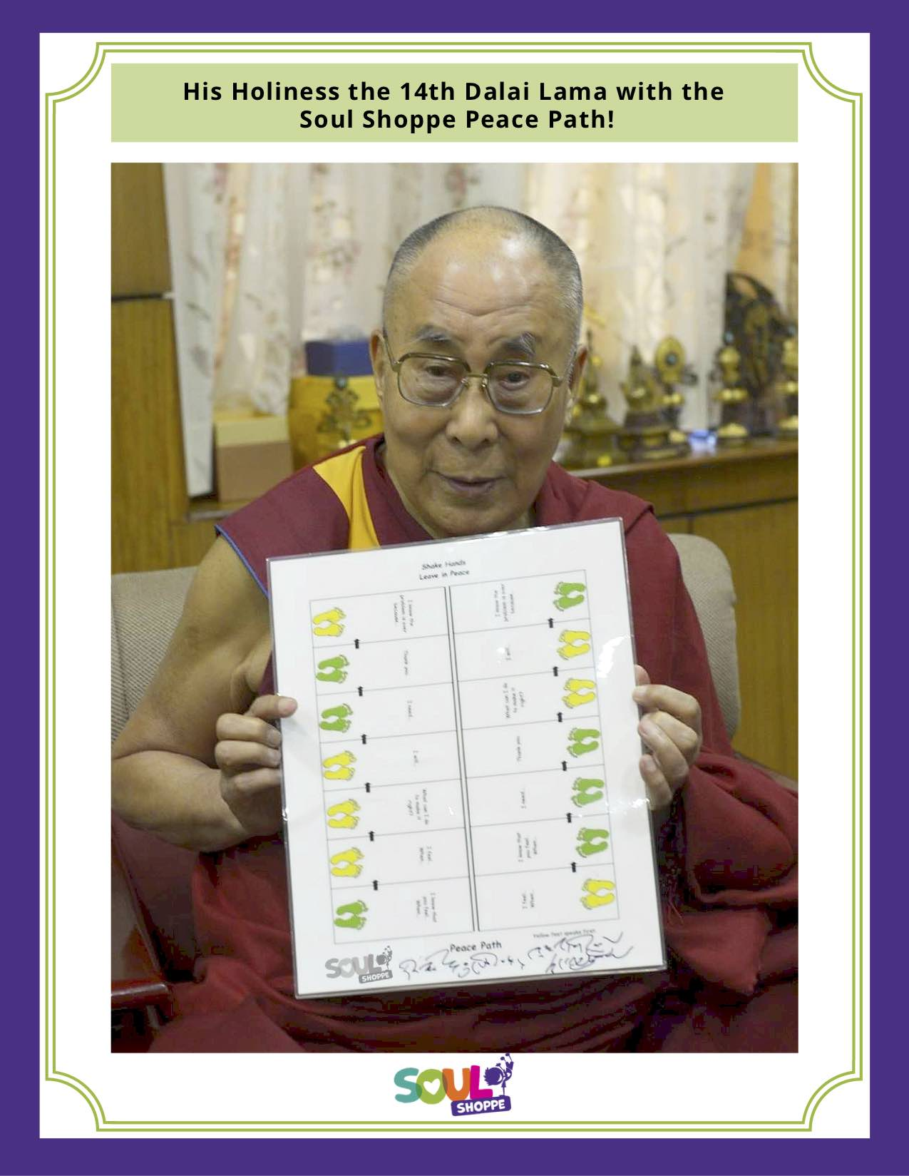 monk with chart