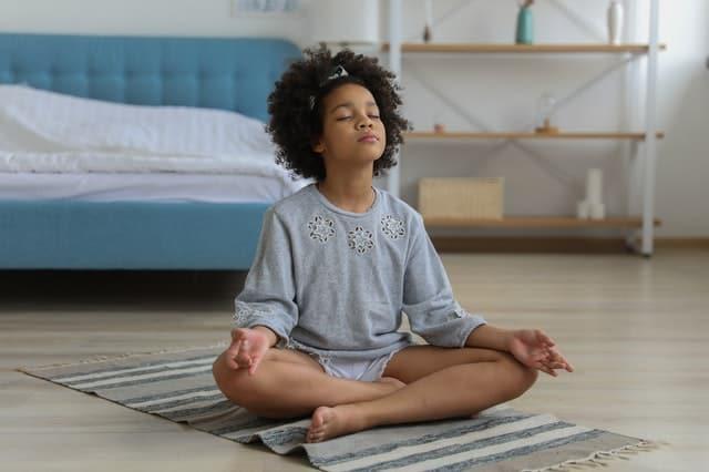 child meditating - mindfulness